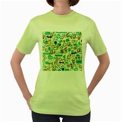 Telegramme Women s Green T-Shirt