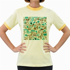Telegramme Women s Fitted Ringer T-Shirts