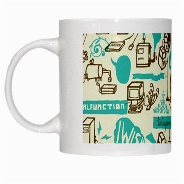 Telegramme White Mugs
