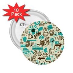 Telegramme 2 25  Buttons (10 Pack)