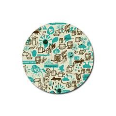 Telegramme Rubber Coaster (Round)