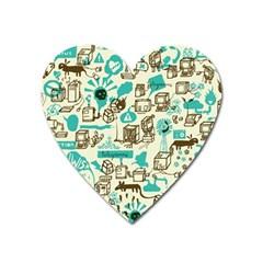 Telegramme Heart Magnet