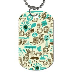 Telegramme Dog Tag (two Sides)
