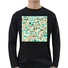Telegramme Long Sleeve Dark T Shirts