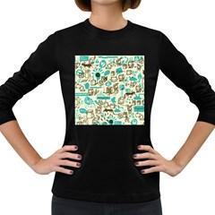 Telegramme Women s Long Sleeve Dark T Shirts