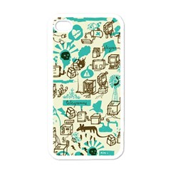 Telegramme Apple iPhone 4 Case (White)