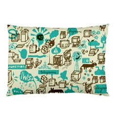 Telegramme Pillow Case (two Sides)