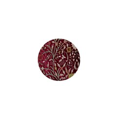 Crewel Fabric Tree Of Life Maroon 1  Mini Buttons