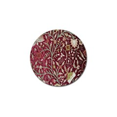 Crewel Fabric Tree Of Life Maroon Golf Ball Marker (10 Pack)