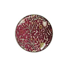 Crewel Fabric Tree Of Life Maroon Hat Clip Ball Marker (4 Pack)