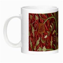 Crewel Fabric Tree Of Life Maroon Night Luminous Mugs