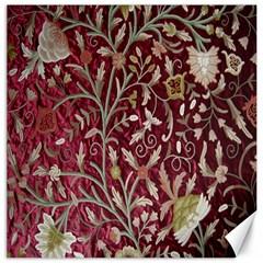 Crewel Fabric Tree Of Life Maroon Canvas 16  X 16