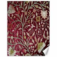 Crewel Fabric Tree Of Life Maroon Canvas 18  X 24