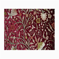 Crewel Fabric Tree Of Life Maroon Small Glasses Cloth (2 Side)