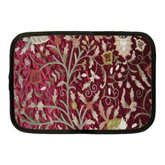 Crewel Fabric Tree Of Life Maroon Netbook Case (medium)