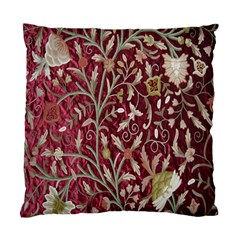 Crewel Fabric Tree Of Life Maroon Standard Cushion Case (two Sides)
