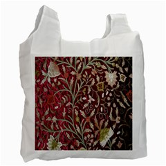 Crewel Fabric Tree Of Life Maroon Recycle Bag (one Side)