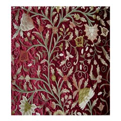 Crewel Fabric Tree Of Life Maroon Shower Curtain 66  X 72  (large)