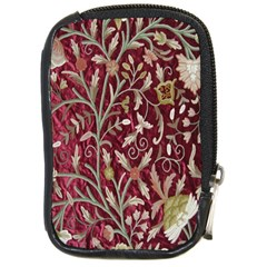Crewel Fabric Tree Of Life Maroon Compact Camera Cases