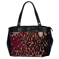 Crewel Fabric Tree Of Life Maroon Office Handbags