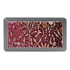 Crewel Fabric Tree Of Life Maroon Memory Card Reader (Mini)