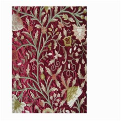 Crewel Fabric Tree Of Life Maroon Large Garden Flag (two Sides)