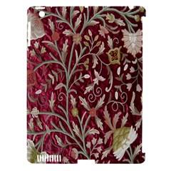 Crewel Fabric Tree Of Life Maroon Apple Ipad 3/4 Hardshell Case (compatible With Smart Cover)