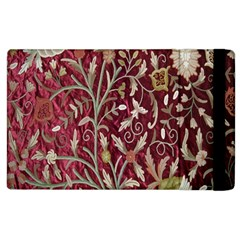 Crewel Fabric Tree Of Life Maroon Apple iPad 3/4 Flip Case