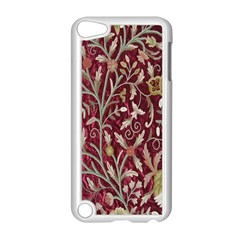 Crewel Fabric Tree Of Life Maroon Apple iPod Touch 5 Case (White)