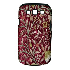 Crewel Fabric Tree Of Life Maroon Samsung Galaxy S Iii Classic Hardshell Case (pc+silicone)