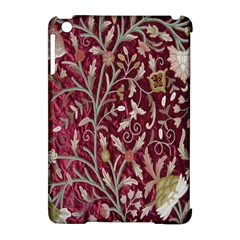 Crewel Fabric Tree Of Life Maroon Apple iPad Mini Hardshell Case (Compatible with Smart Cover)