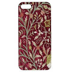 Crewel Fabric Tree Of Life Maroon Apple Iphone 5 Hardshell Case With Stand