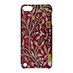 Crewel Fabric Tree Of Life Maroon Apple Ipod Touch 5 Hardshell Case With Stand