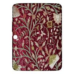 Crewel Fabric Tree Of Life Maroon Samsung Galaxy Tab 3 (10 1 ) P5200 Hardshell Case