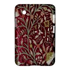 Crewel Fabric Tree Of Life Maroon Samsung Galaxy Tab 2 (7 ) P3100 Hardshell Case