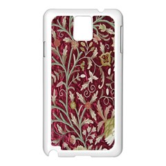Crewel Fabric Tree Of Life Maroon Samsung Galaxy Note 3 N9005 Case (white)