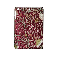 Crewel Fabric Tree Of Life Maroon iPad Mini 2 Hardshell Cases