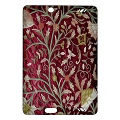 Crewel Fabric Tree Of Life Maroon Amazon Kindle Fire Hd (2013) Hardshell Case