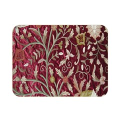 Crewel Fabric Tree Of Life Maroon Double Sided Flano Blanket (mini)