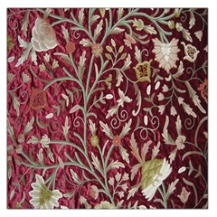 Crewel Fabric Tree Of Life Maroon Large Satin Scarf (Square)