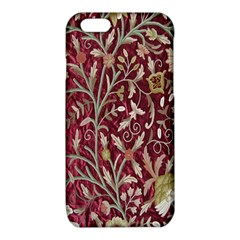 Crewel Fabric Tree Of Life Maroon iPhone 6/6S TPU Case