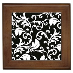 Vector Classical trAditional Black And White Floral Patterns Framed Tiles