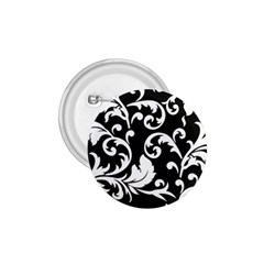 Vector Classical Traditional Black And White Floral Patterns 1 75  Buttons