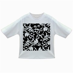 Vector Classical Traditional Black And White Floral Patterns Infant/toddler T Shirts