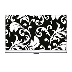 Vector Classical trAditional Black And White Floral Patterns Business Card Holders