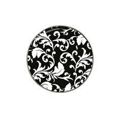 Vector Classical Traditional Black And White Floral Patterns Hat Clip Ball Marker