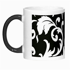 Vector Classical trAditional Black And White Floral Patterns Morph Mugs