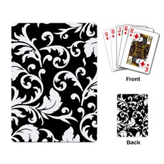 Vector Classical Traditional Black And White Floral Patterns Playing Card