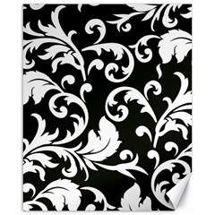 Vector Classical Traditional Black And White Floral Patterns Canvas 16  X 20