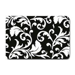 Vector Classical Traditional Black And White Floral Patterns Small Doormat